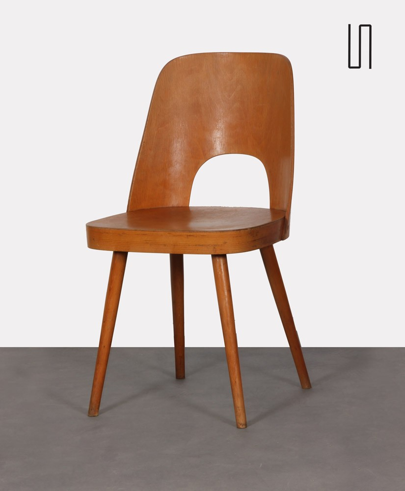 Wooden chair by Oswald Haerdtl for Ton, 1960s