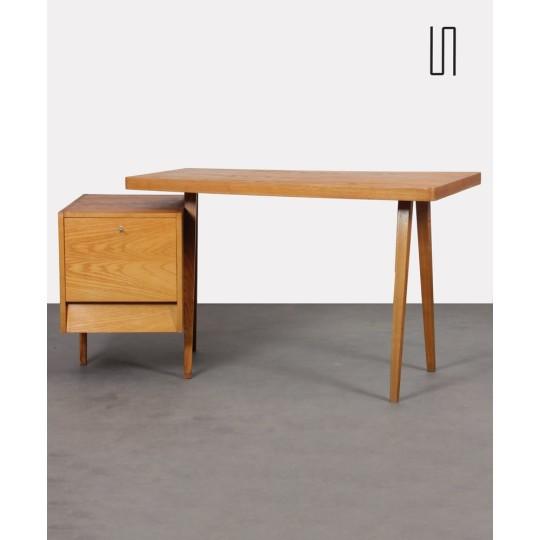 Ash desk edited by Drevotex OPMP, mobile desktop, 1970s