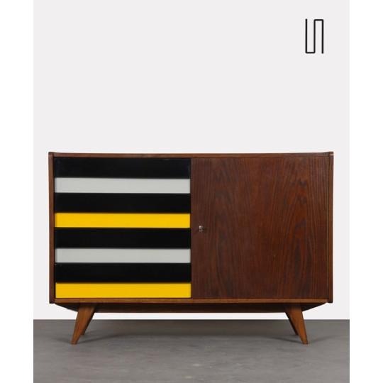 Yellow drawer chest by Jiri Jiroutek, model U-453, 1960s