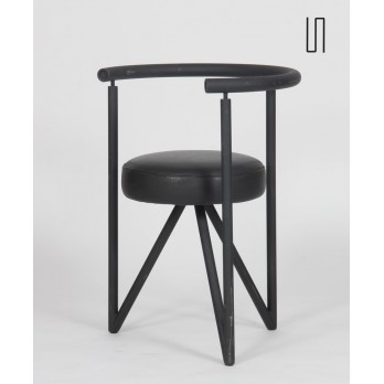 Miss Dorn chair in leather by Philippe Starck for Disform, 1982