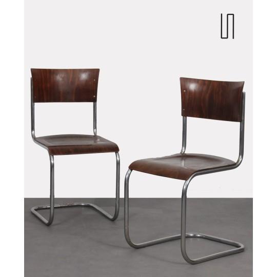 Paire de chaises vintage par Mart Stam pour Kovona, 1940