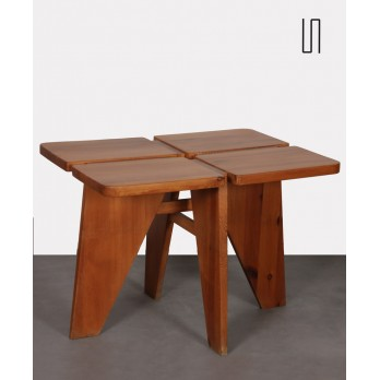 Wooden dining table, Czech craftsmanship from the 1960s