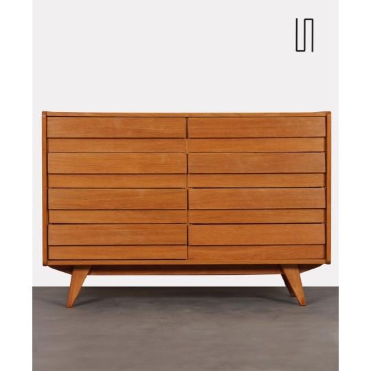 Vintage dresser model U-453 with 8 drawers by Jiri Jiroutek, 1960s