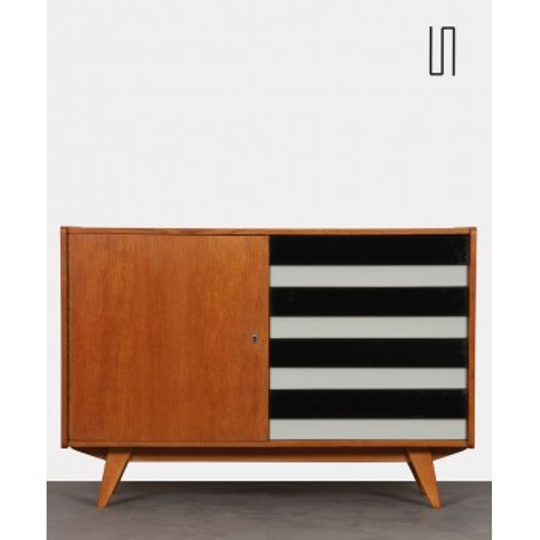 Vintage oak chest of drawers by Jiri Jiroutek, model U458, 1960s