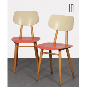 Pair of vintage chairs for Ton, 1960s