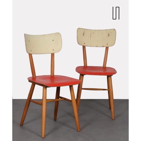 Paire de chaises vintage pour l'éditeur Ton, 1960
