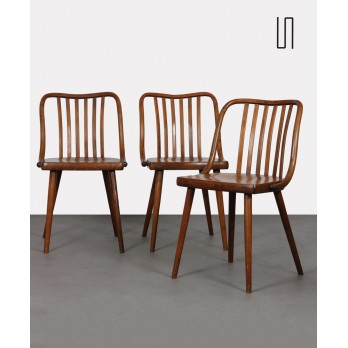 Set of 3 vintage chairs by Antonin Suman for Ton, 1960s