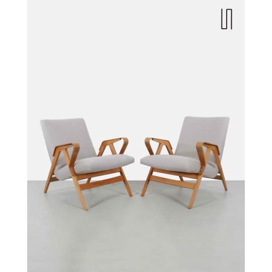 Paire de fauteuils d'Europe de l'Est pour Tatra Nabytok, Design d'Europe de l'Est