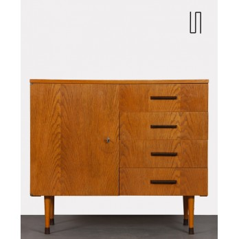 Small vintage wooden chest of drawers by UP Zavody circa 1960
