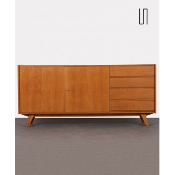 Large wooden chest by Jiroutek for Interier Praha, U-460, 1960s
