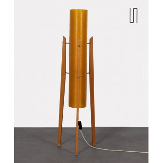 Fiberglass floor lamp produced by Novoplast, 1970s