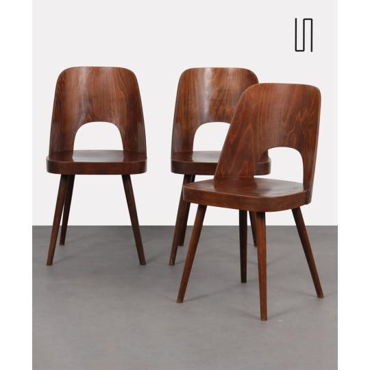 Suite de 3 chaises vintage par Oswald Haerdtl pour Ton, 1960