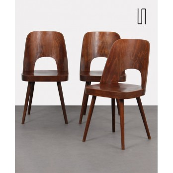 Suite of 3 vintage chairs by Oswald Haerdtl for Ton, 1960s