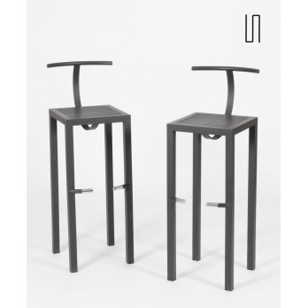 Pair of Sarapis high stools by Starck for Driade in 1986