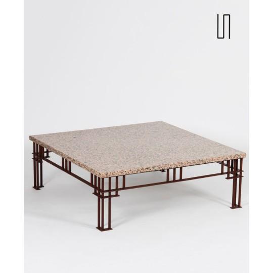 Table basse modèle Attila par Jean-Michel Wilmotte, années 1980