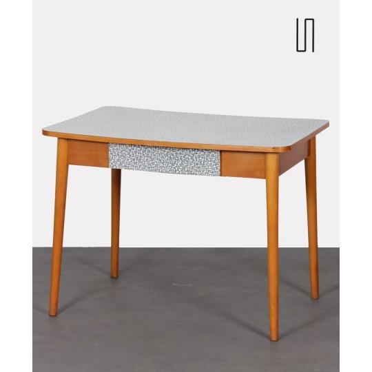 Table haute vintage, fabrication tchèque, 1960