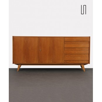 Large wooden chest of drawers by Jiroutek for Interier Praha, U-460, 1960s