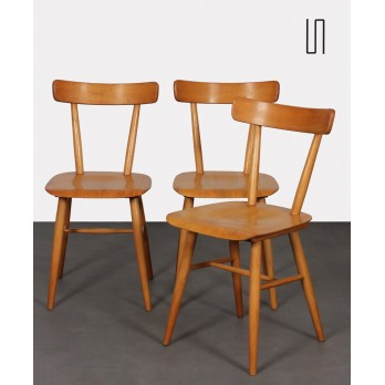 Set of 3 vintage chairs edited by Ton, 1960s