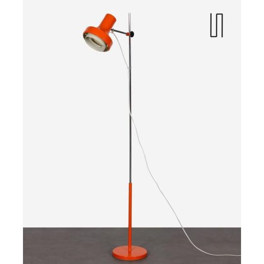 Orange floor lamp in metal edited by Napako, circa 1970