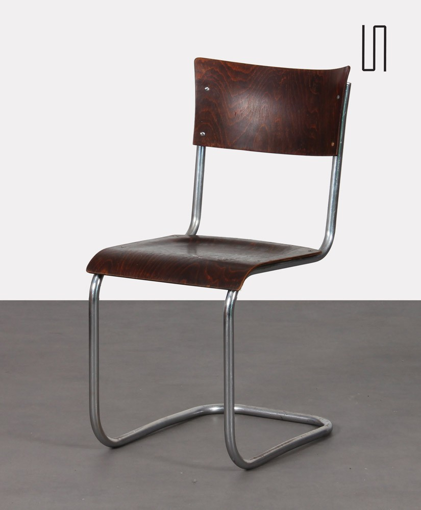 Chair designed by Mart Stam, Czech production, 1940s
