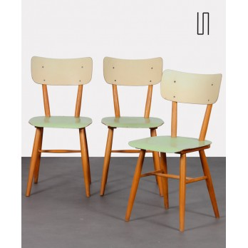 Set of three vintage Czech chairs, 1960s