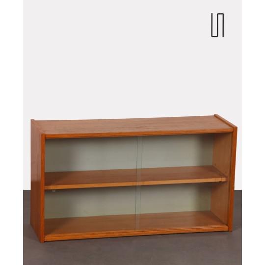 Oak wall shelf, Czech made, 1960s