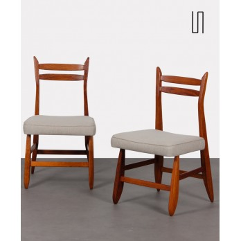 Pair of chairs by Guillerme and Chambron for Votre Maison, 1960s