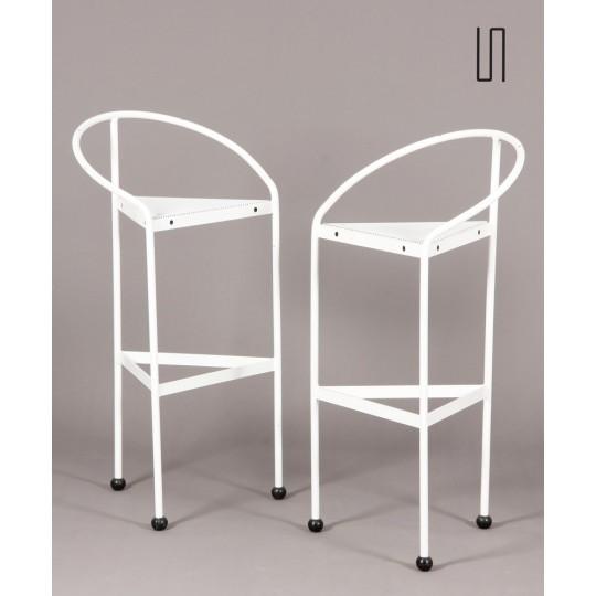 Pair of Bermuda stools by Carlos Miret for Amat, circa 1983