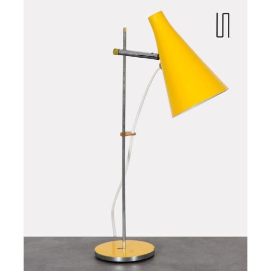 Lampe à poser en métal jaune par Josef Hurka pour Lidokov, 1960