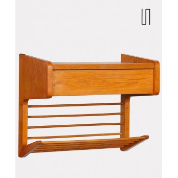 Small vintage oak wall table from the 1960s