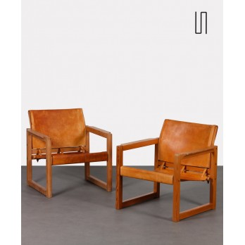 Pair of leather armchairs by Mobring for Ikea, model Diana, 1970s