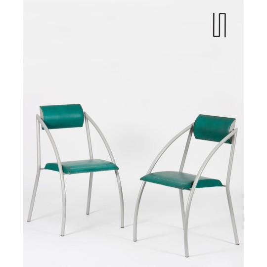 Paire de chaises Monica par Jean-Louis Godivier par Tebong, 1986
