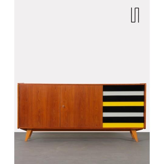Yellow and black sideboard by Jiri Jiroutek for Interier Praha, U-460, 1960s