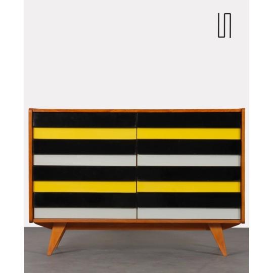 Yellow and black chest of drawers, model U-453, by Jiri Jiroutek, 1960s