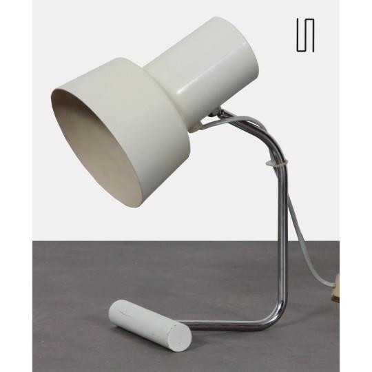 Lampe blanche en métal par Josef Hurka pour Napako, 1970