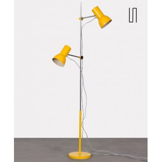 Lampadaire jaune par Josef Hurka pour Napako, 1970