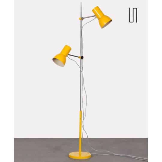 Yellow floor lamp by Josef Hurka for Napako, 1970s