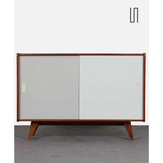 Dark oak chest of drawers by Jiri Jiroutek, model U-452, 1960s