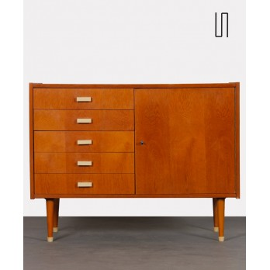 Small oak chest of drawers by Zapadoslovenske Nabytkarske Zavody, 1960s