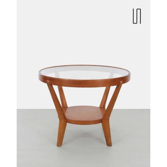 Eastern European coffee table by Kropacek and Kozelka, 1940s, soviet design
