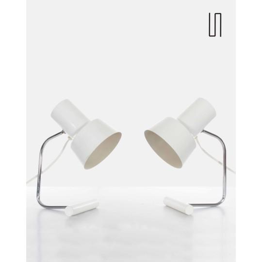 Lampes à poser par Josef Hurka pour Napako, Design d'Europe de l'Est
